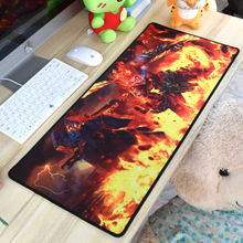 Customized natural rubber custom printed game play mat computer mouse pad for gamer
