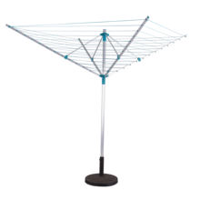 Garden outdoor 4 arms 50m rotary airer with aluminum tube laundry washing line ground socket