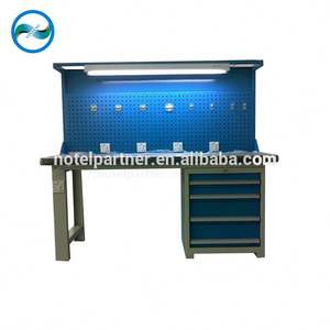 Workshop Custom heavy duty industrial electronic steel workbench/worktable/workstations