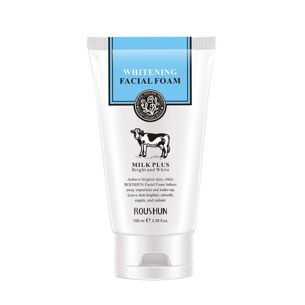 ROUSHUN Milk whitening facial foam wash cleanser