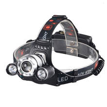 1000 Lumen LED Zoom Rechargeable Headlamp Flashlight Adjustable Focus Headlight