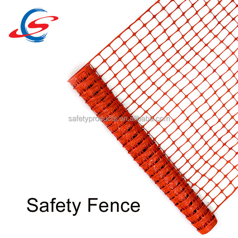 Plastic safety fence net, plastic warning barrier fence, highway cheap safety fence