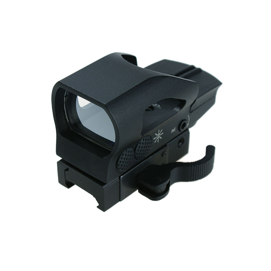 1X22X33 Tactische Nieuwe Jacht Micro Reflex Red Dot Sight Scope Met Quick Vrijstaande Weaver 20mm Base