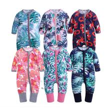 New various design fall winter long sleeve printed romper baby girl boy clothes