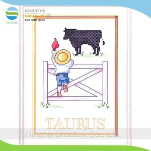 15*20cm 14ct 12 constellations series DIY embroidery kit counted cross stitch patterns of Taurus