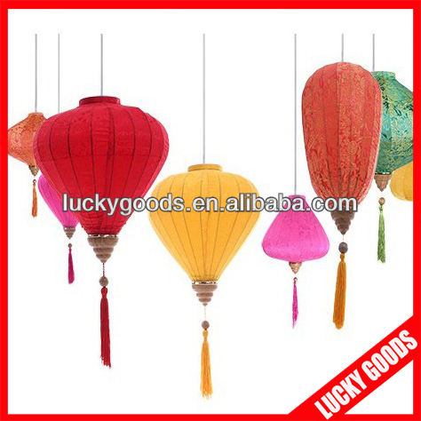 luxury jacquard silk lanterns vietnam for sale