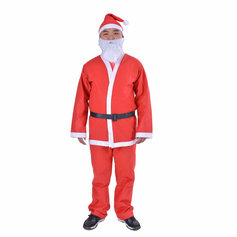 Felt Adult and Kids Santa Claus Costume For Christmas Party Decoration