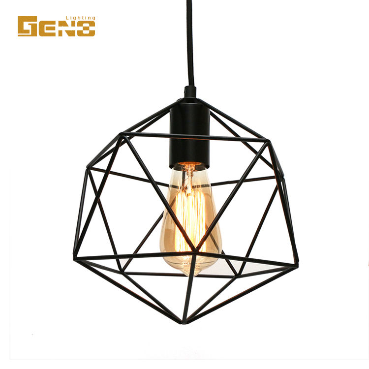 2018 hot iron geometry ottoman iron lamp