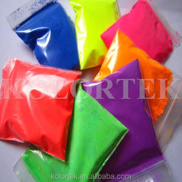 Neon colors powder resin fluorescent neon pigment for nail polish