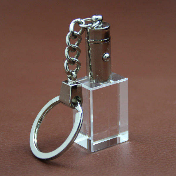 rectangle shape blank crystal keychain for 3d laser engraved