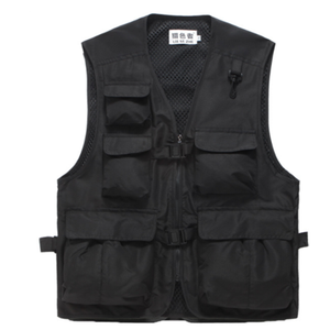 Multi-pocket Workwear Men's 야외 낚시 Vest 대 한 Men Photography