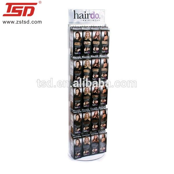 wholesale hair extension product pop metal floor display stand retail floor display for shop