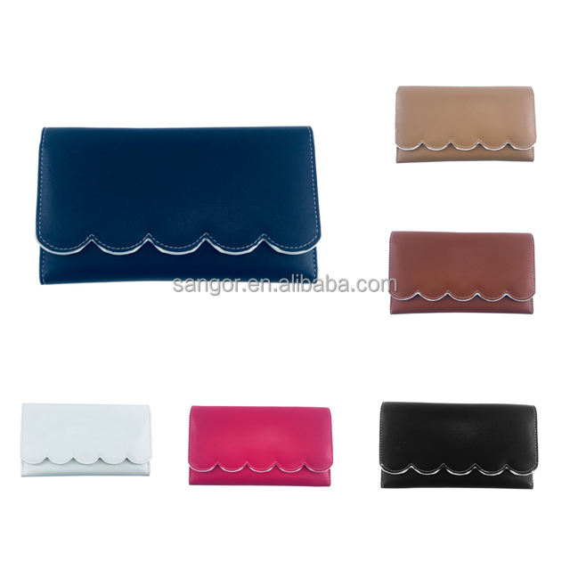 Customized Women Solid Color Clutch 지갑