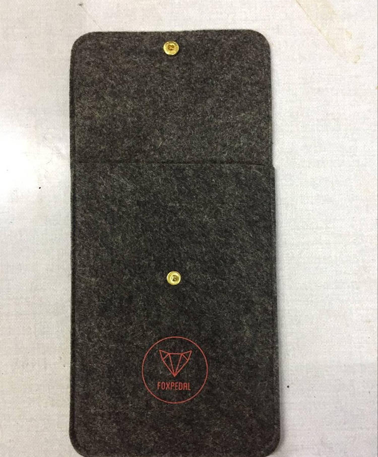 High-end custom size Felt Pouches for Jewelry with logo