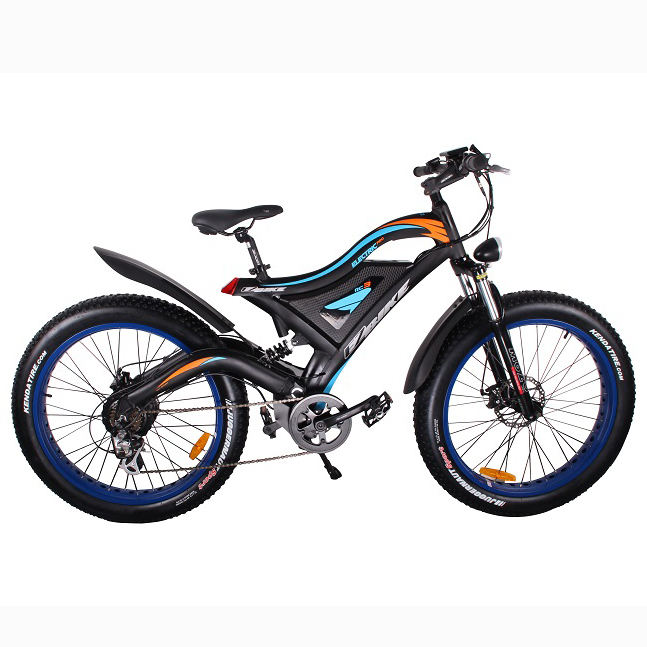 2019 high level enduro china ebike full suspension rear motor 500 watt 26'' snow mountain fat ebike with best 48v hidden battery