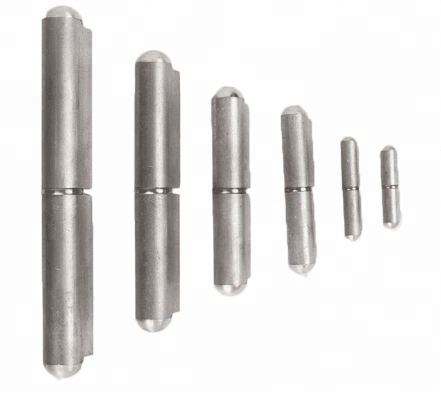 heavy duty aluminum weld on hinge with stainless steel or brass pin
