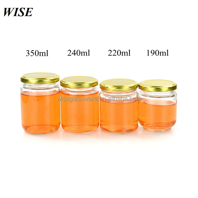 cheap food safety 200ml 250ml 350ml glass jelly jam jars glass jar for jam 7oz 9oz 12oz