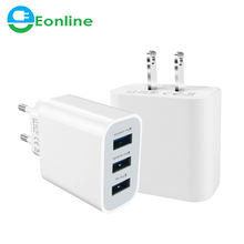 Newest EU US 3-USB Charger 3.1A Power Adapter For Charger Samsung S8 S7 S6 S5 S4 Note for iPhone X 8 7 6plus for HTC Sony