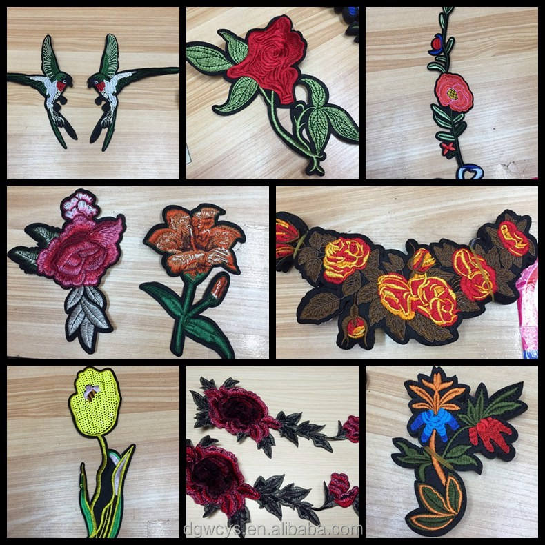 Appliqued Custom Colorful Professional Applique Embroidery Patch For Clothing