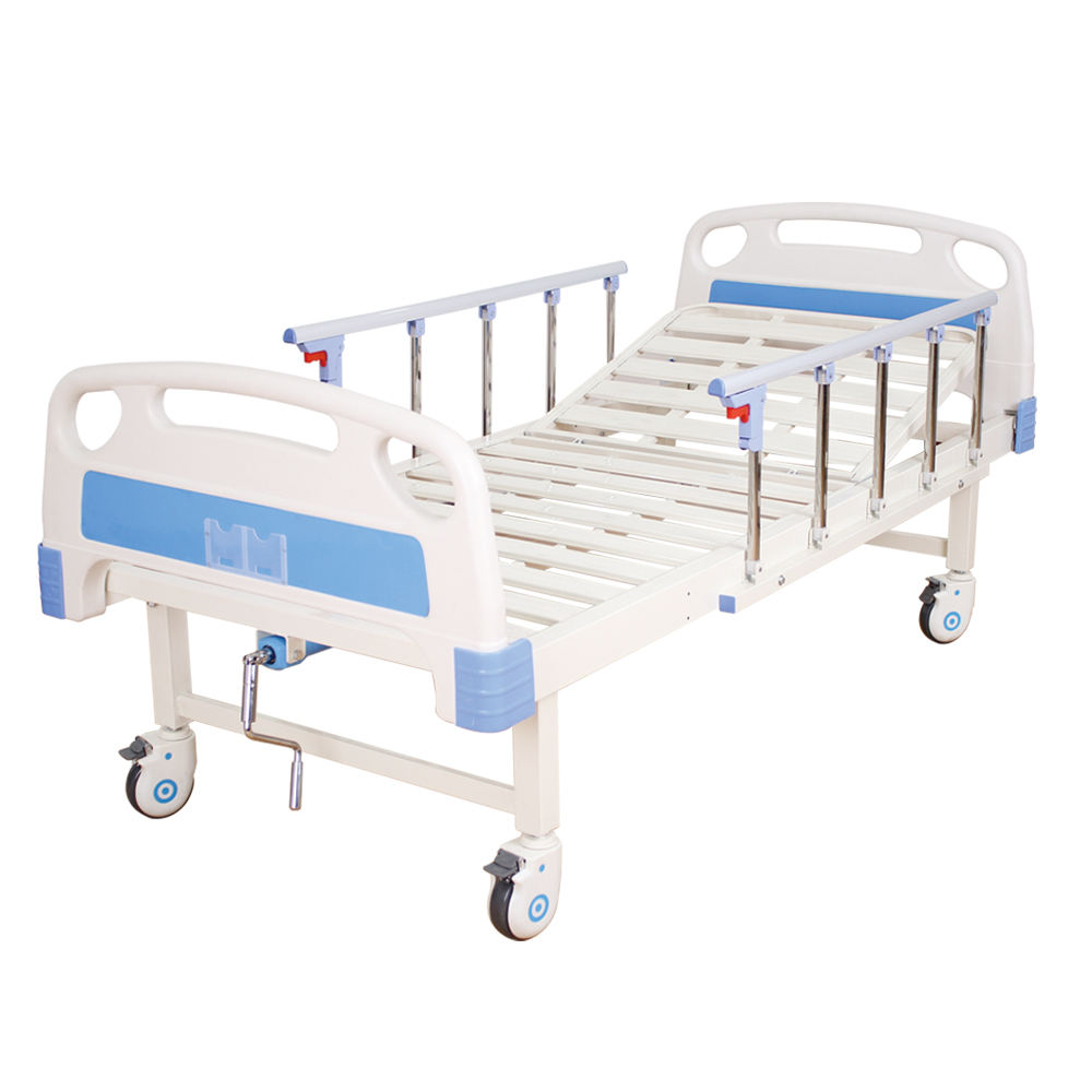 ZK10 One Function One Crank Manual Cheap Hospital Bed With ABS Head Board