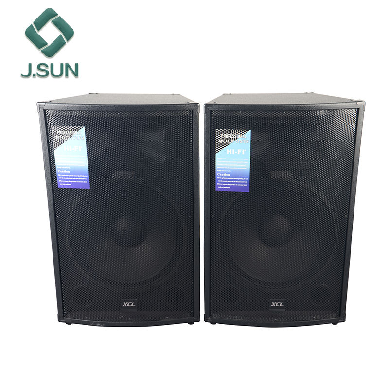 Powered 15 inch stage speaker box professional HIFI DJ passive pair speaker