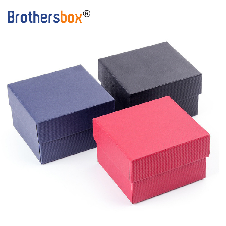 Cheap Custom high quality Unique Single Small Size leather MDF Watch Packaging Box with pillow