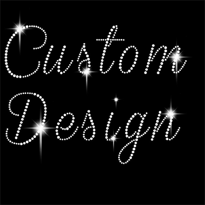 wholesale custom design Rhinestone Transfer Motif for T Shirts