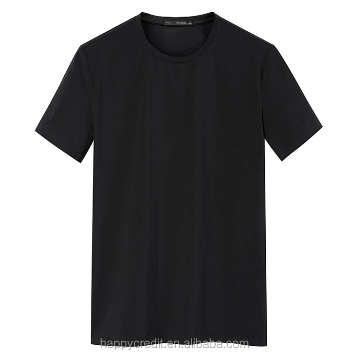 Custom 100% Cotton Plain Blank Short Sleeve T-shirts Mens Urban Clothing