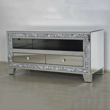 crush diamond modern tv mirrored cabinet furniture wholesale stand furniture