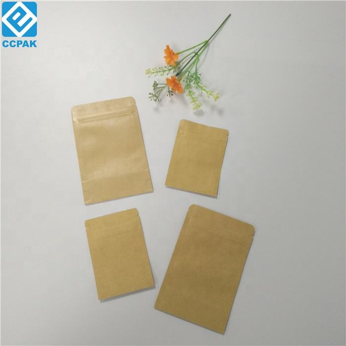 Heat seal small Kraft paper bag for medicine pill/seeds custom printed foil laminated mylar ziplock bags