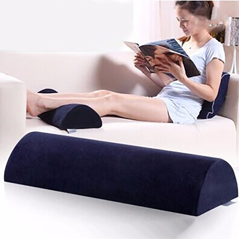 Semi-Cylinder Travel Half Moon Bolster Cylindrical Knee Pillow Foot Leg Rest Cushion