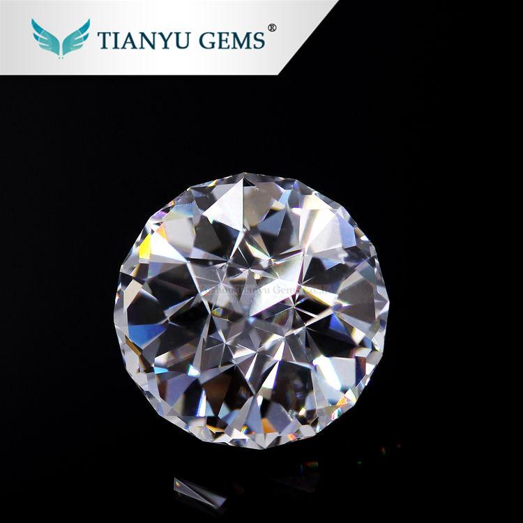 Al por mayor Super blanco para siempre una de VVS excelente Rosa corte 2ct 8.0mm moissanite precio diamante precio por quilate