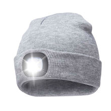 Winter thermal night scout USB Rechargeable Led light torch knitted beanie hat for Fishing,Work,Camping, Hunting, Running,Hiking