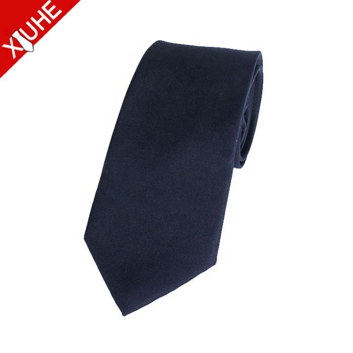 Necktie Fashion High Quality Men Skinny Solid Color Blue Skinny Velvet Ties