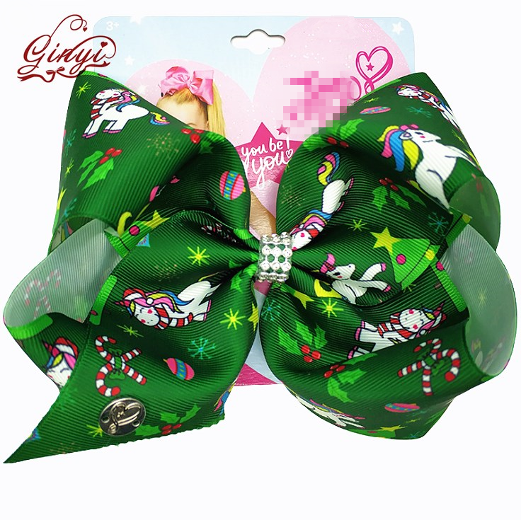 8'' Big Unicorn Style Layer Hair Bows