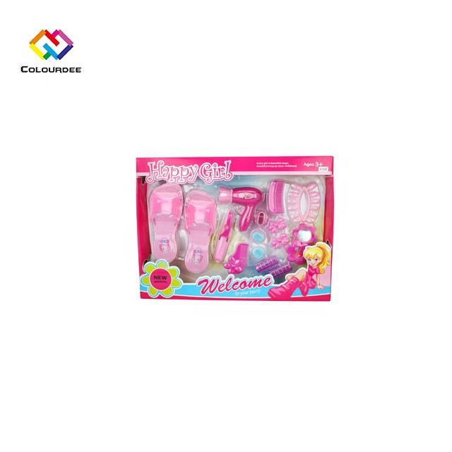 1222AB Girl's Toys Hair Styling Set Pretend Play Dressing Table Toy Sets for Kids Amusement