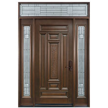 American Exterior House Carved Solid Wooden door with glass