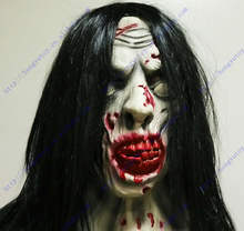Evil Zombie Mask Deluxe Overhead Adult Latex Scary Halloween Mask