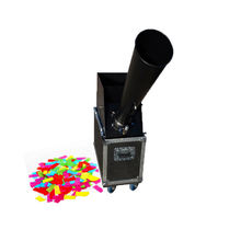 Wedding Party Stage Performance Celebration Ceremony Compressed Co2 Gas Confetti Rainbow Effect Machine