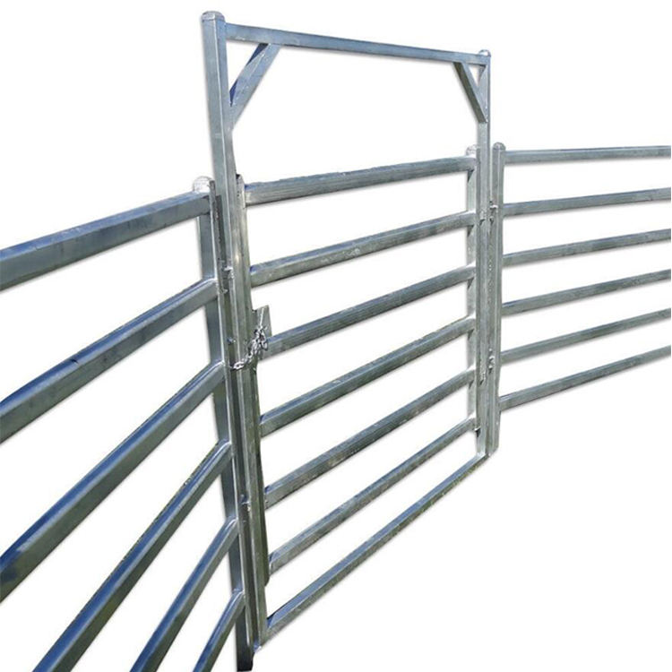 Portable Sheep Or Livestock Cattle Yard Panel Corral Fence Panel- 6 Bar Galv