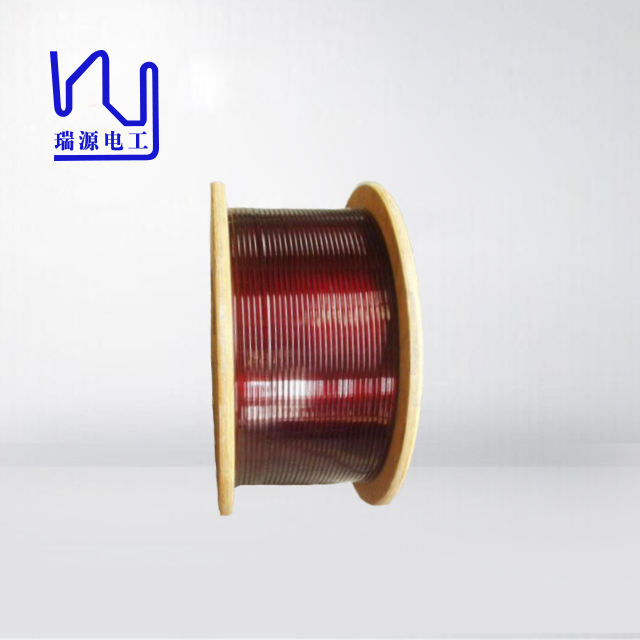 0.02 - 1.8mm Enamel Coated Copper Wire Super Flat / Rectangular Magnet Wire