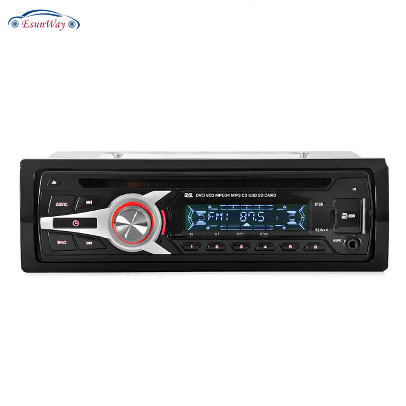 Universal Fit Car Stereo Radio Audio Player CD DVD MP3 Player with FM Aux Input SD/USB Port