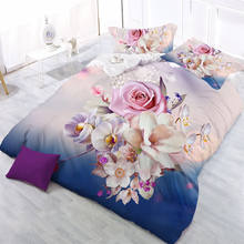Guangzhou Latest Newest Flower Eiffel Design 3D Printed Comforter Set , Quilt Cover , Bed Sheet Set Bedding