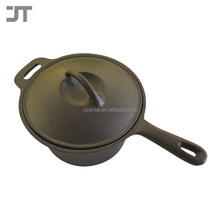 Pre-seasoned Cast Iron Milk Boiler Pot Set Cookware Milk Warmer Pot With Pouring Lip