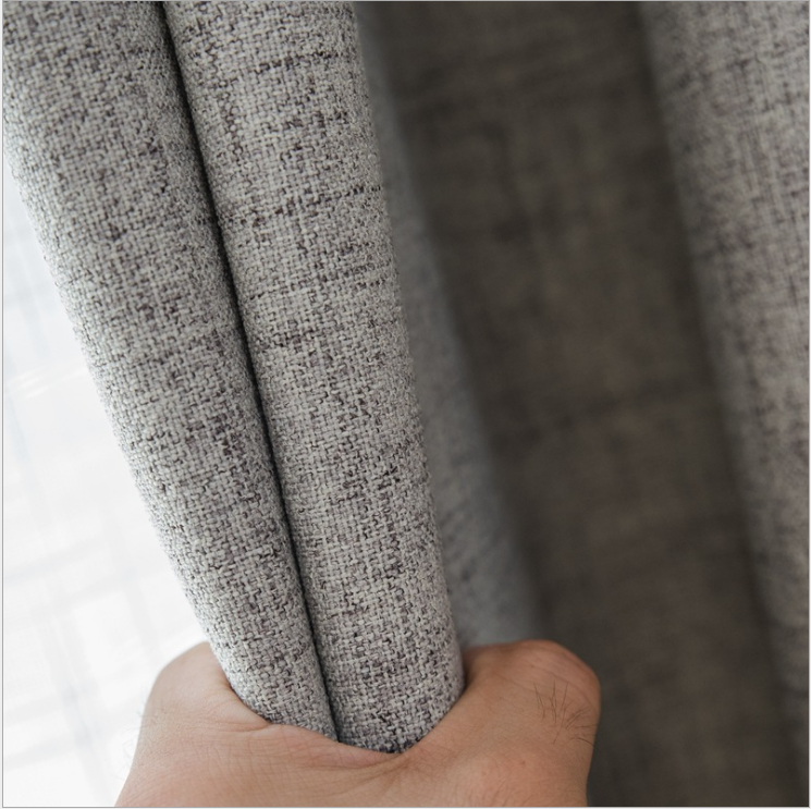 china manufacturer blackout cotton linen grey european modern curtains