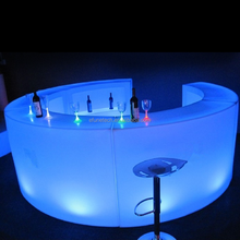 16 colors lighting illuminated led nightclub counters commercial furniture general use led plastic material mobile bar
