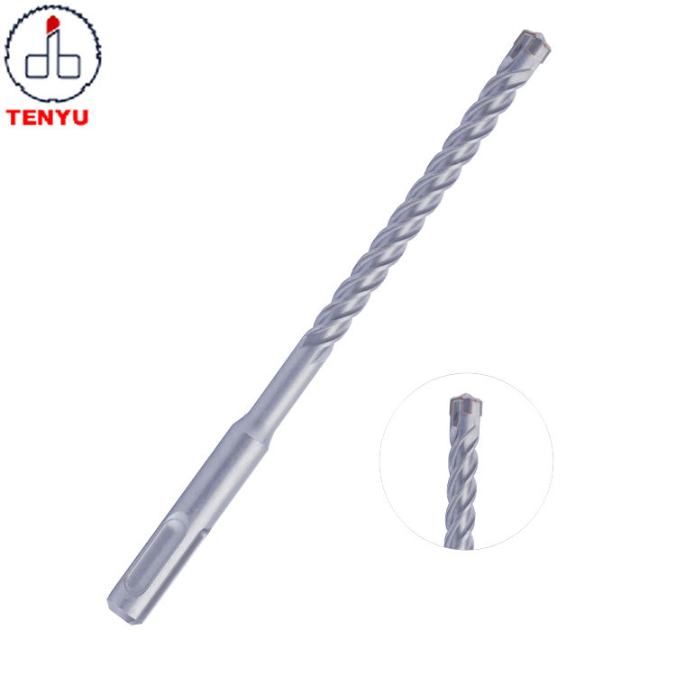 Carbide Cross Head Tip U Flute SDS Plus Rotary Hammer Drill Bit for Concrete and Hard Stone