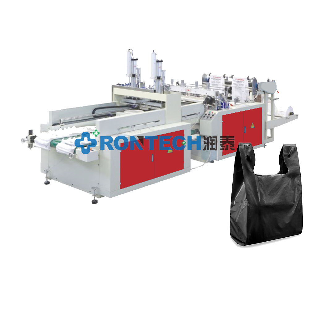 High Speed Plastic/Corn Starch Shopping Bag Making Machine