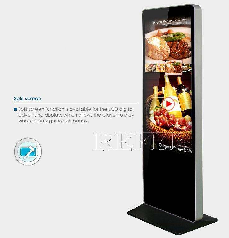 Digital signage for exhibition Hall,Stadiums,Banking,55''floor stand remote advertising display