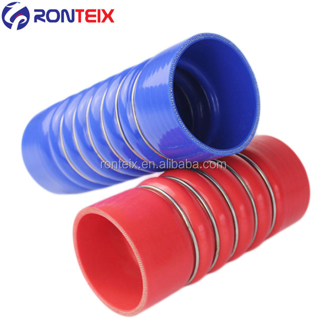 "3""ID X 6""L High Temp Silicone Charge Air Cooler Hump Hose With Steel Ring"